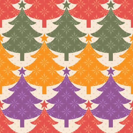 christmas seamless pattern: Simple seamless Christmas tree pattern. Illustration