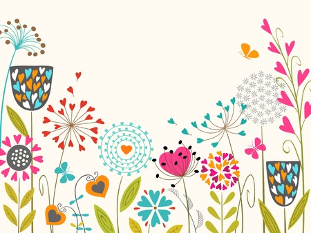 Floral design with space for your text. Stock Vector - 17454574