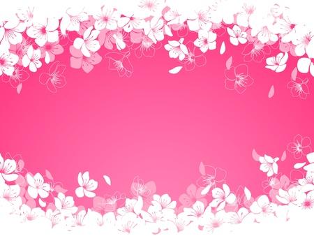 Lente achtergrond met cherry bloemen Stock Illustratie