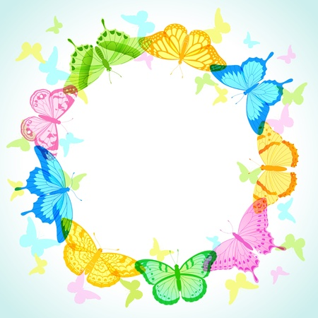 Colorful Butterfly Frame For Your Design. Royalty Free Cliparts ...