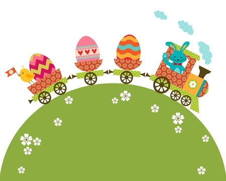 Easter illustration with place for your text.