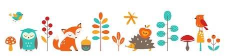 Cute autumn border for your design