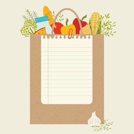 sac d'épicerie en papier avec place pour votre texte