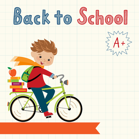 school bag: Back to school illustration with place for your text. Illustration