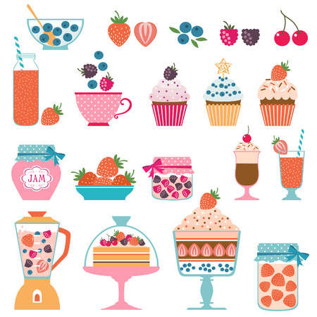 berry: Set of berry sweets stuff