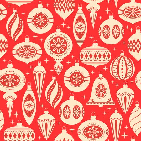 Rouge et or de Noël seamless Banque d'images - 43875793