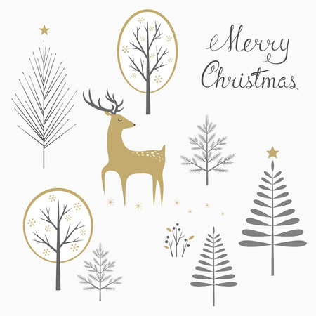Christmas woodland greeting card