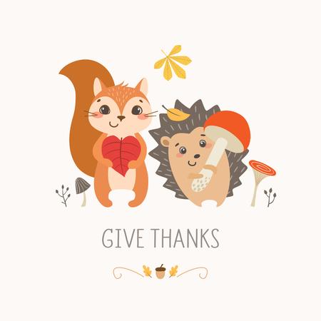 Thanksgiving banner. Illustration