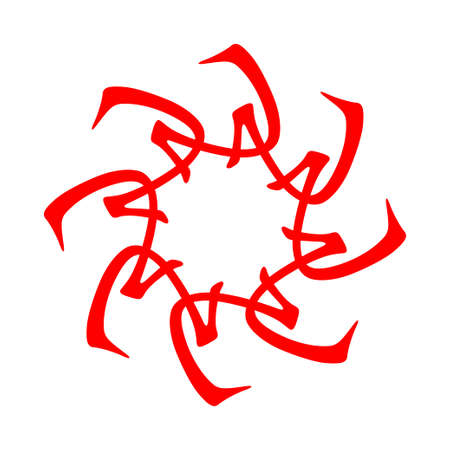 chinese astrology: Feng Shui, Bazi, I, , Chinese Astrology, chinese ornament, red Illustration