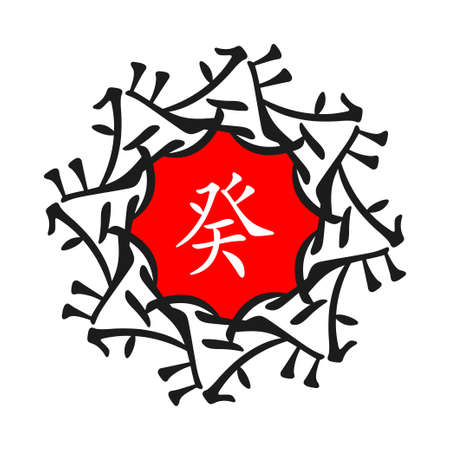 chinese astrology: Feng Shui, Bazi, Kvei,, Chinese Astrology, chinese ornament, red and black
