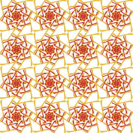 風水、八字、錫、中国占星術、運命の 4 柱、中国飾り、赤、シームレスなパターン  イラスト・ベクター素材