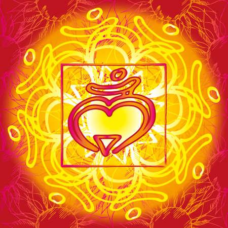 muladhara: Chakra Muladhara icon, ayurvedic symbol, flower pattern. 21 june. World yoga Day. International yoga day.