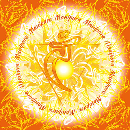 tantra: Chakra Vishuddha icon, ayurvedic symbol, flower pattern. 21 june. World yoga Day. International yoga day.