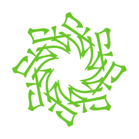 Symbol from chinese hieroglyphs. Translation of 12 zodiac animals branch, feng shui signs hieroglyph: rabbit