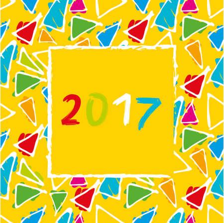 Spanish Calendar 2017 template. Gaudi pattern. Vector pattern. Illustration