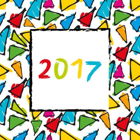 Spanish Calendar 2017 template. Gaudi pattern. Vector pattern. Stock Photo