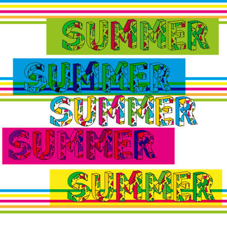 Summer template. Vector design. Gaudi triangle style 版權商用圖片