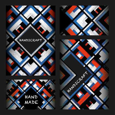 Square, mandala, hand drawn vector pattern. Geometric romb print in vector pattern. Hand drawn fashion stylish pattern.