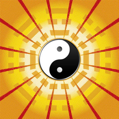 Bagua Symbol Of Taoism Daoism With 8 Trigrams With Yin Yang