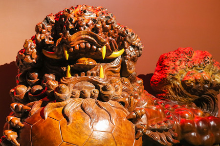 Wooden sculture of Qilin