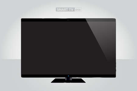 tft: Realistic Smart TV Concept Illustration