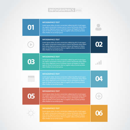 design elements: Colorful Step By Step Infographics for Web Elements Illustration
