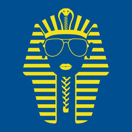 Faraón en gafas de sol