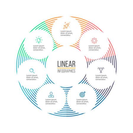 minimalistic: Linear infographis. Minimalistic chart, diagram. Vector design element.