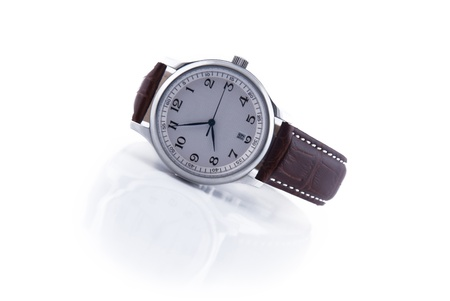 Steel watch, isolated no white background Stock Photo - 11819493