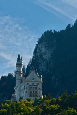 Beautiful autumn view of the Neuschwanstein castle