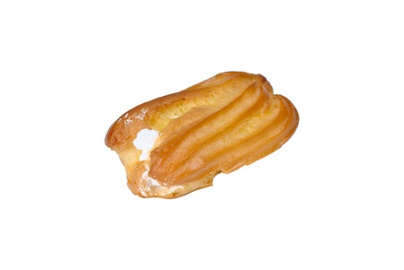 Cake the Eclair isolated on a white background photo
