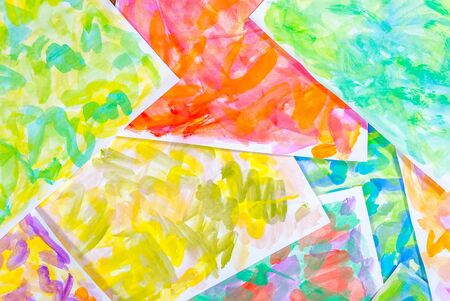 Abstract water color paints colorful background photo
