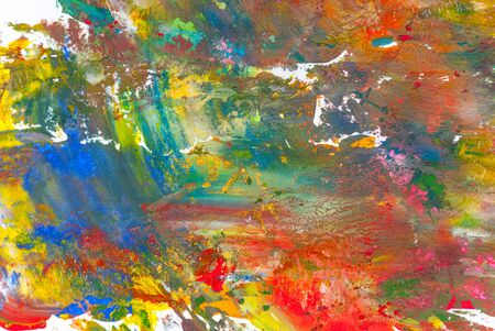 Abstract gouache paints colorful background photo