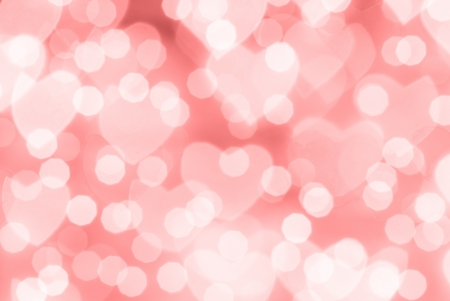 bokeh: St  Valentine Day red bokeh background, place for text Stock Photo
