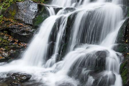 Beautiful waterfall in autumn, long exposure photo