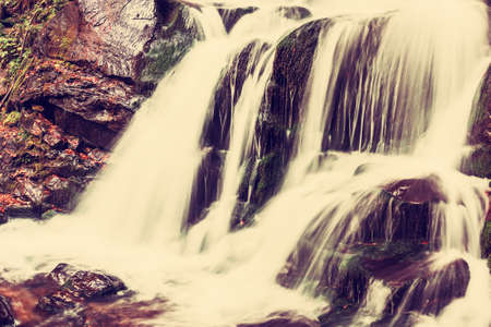 vintagel: Vintagel autumn waterfall with white jets