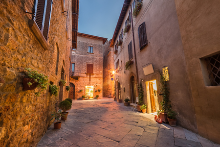 pienza: Old town in Italy, Pienza, Tuscany
