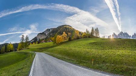 beatuful: Autumn landscape with road in beatuful mountain