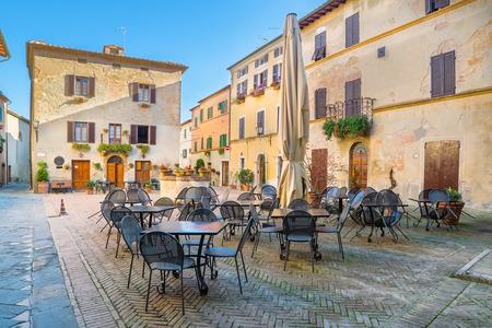 pienza: Beautiful quiet streets of ancient European city, Pienza, Italy
