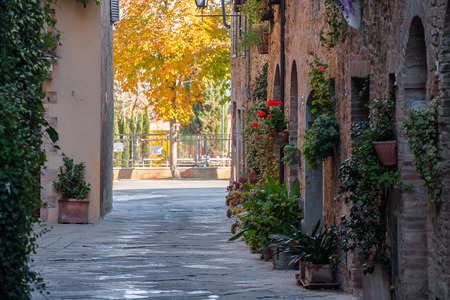 pienza: Beautiful streets in a peaceful ancient town, architecture, Italy
