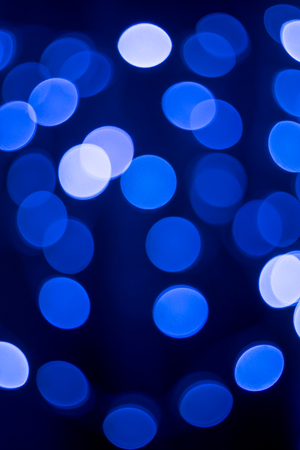 Blue bokeh background for Christmas and New Year Holiday