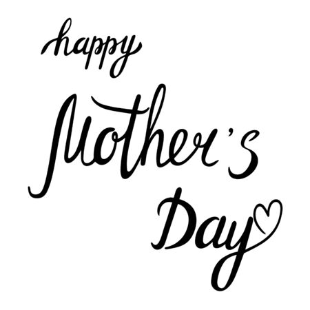 Happy Mothers day lettering hand sketched sign. Seasonal logo, greeting card. Latter for holiday decorating. Vector Иллюстрация