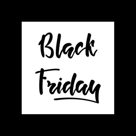 Black friday hand lettering calligraphy text isolated for card or banner. Big holidays sale and discount. Vector 10 EPS