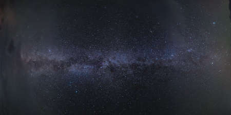 Night panorama of big Milky way with many stars in sky