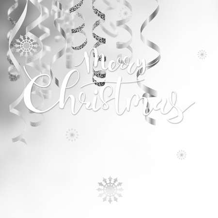 Golden Christmas and New Year holiday background with hand lettering text