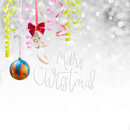 Holiday background for Christmas and New Year with hand lettering text