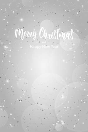Greeting card with Merry Christmas hand lettering calligraphy text. Holiday banner Vector 10 EPS