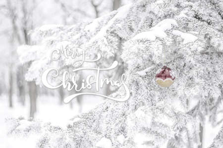 New Year and Christmas background, snow fairytaile, winter holiday wallpaper Фото со стока