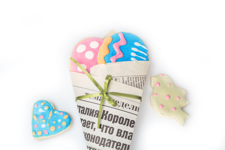gingerbread cookies: Easter egg shaped gingerbread cookies