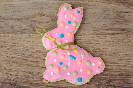 gingerbread cookie: Easter bunny shaped gingerbread cookie